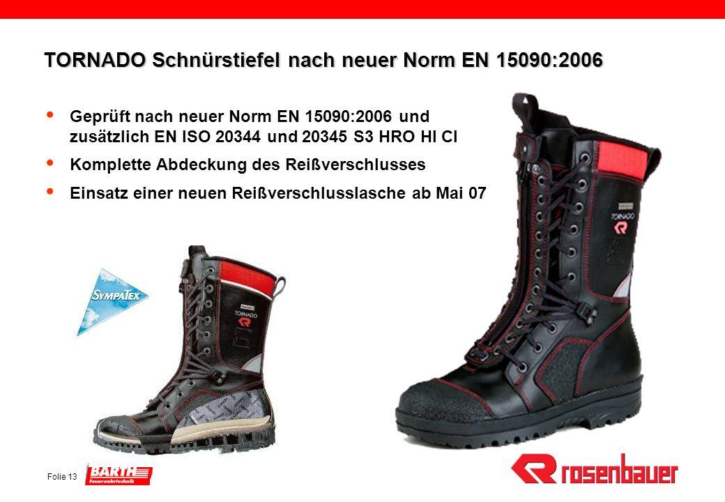 TORNADO Schnürstiefel nach neuer Norm EN 15090:2006
