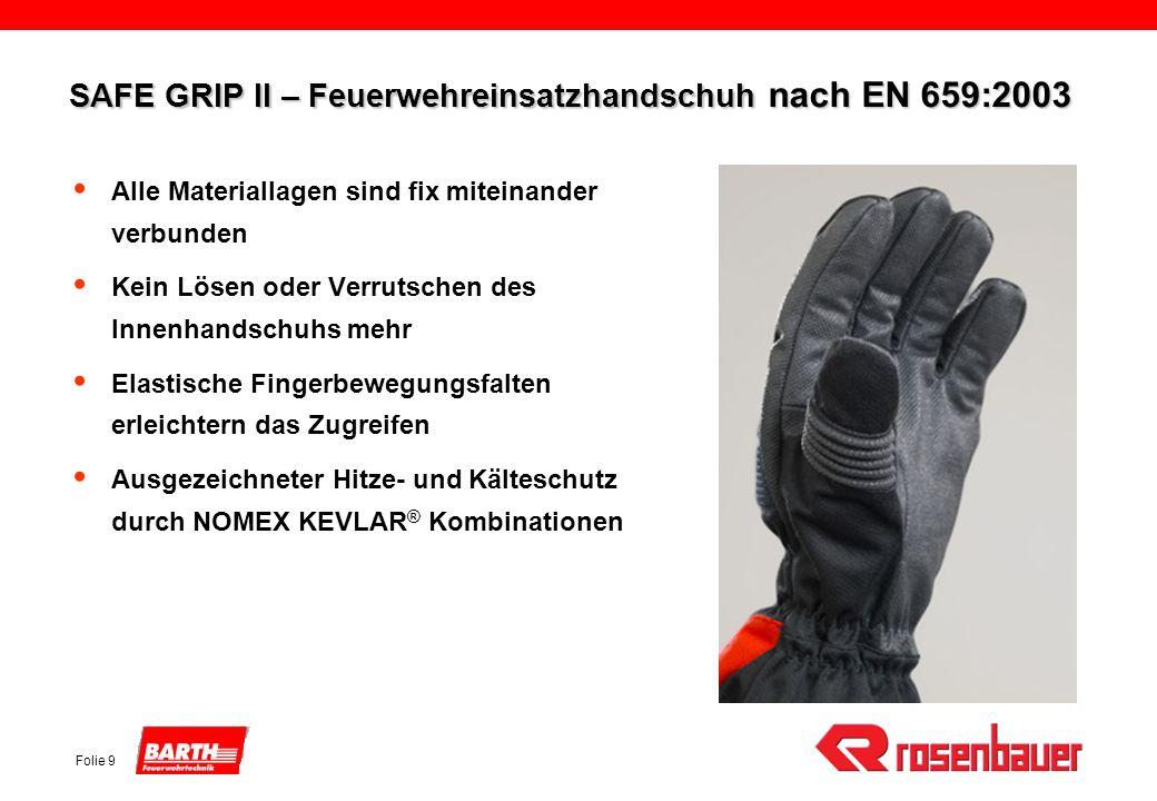 SAFE GRIP II – Feuerwehreinsatzhandschuh nach EN 659:2003