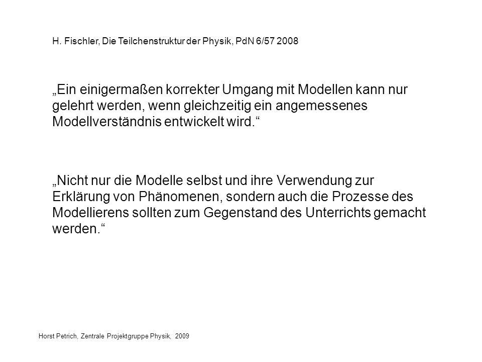 H. Fischler, Die Teilchenstruktur der Physik, PdN 6/57 2008