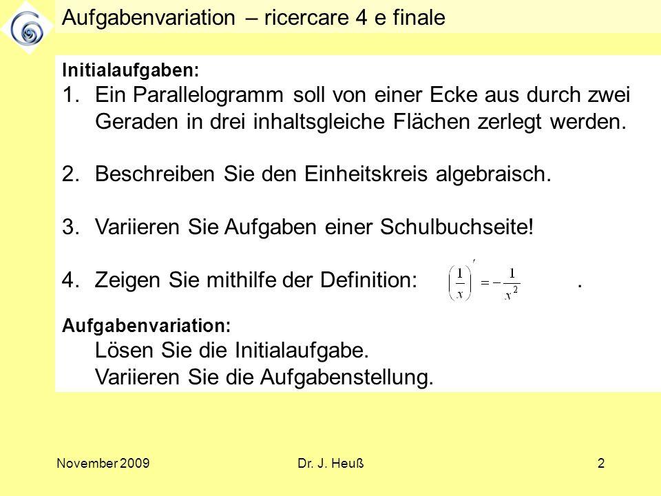Aufgabenvariation – ricercare 4 e finale