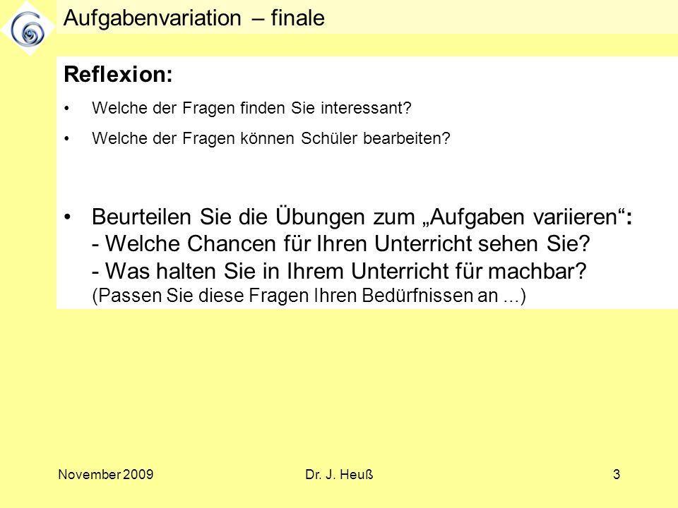 Aufgabenvariation – finale