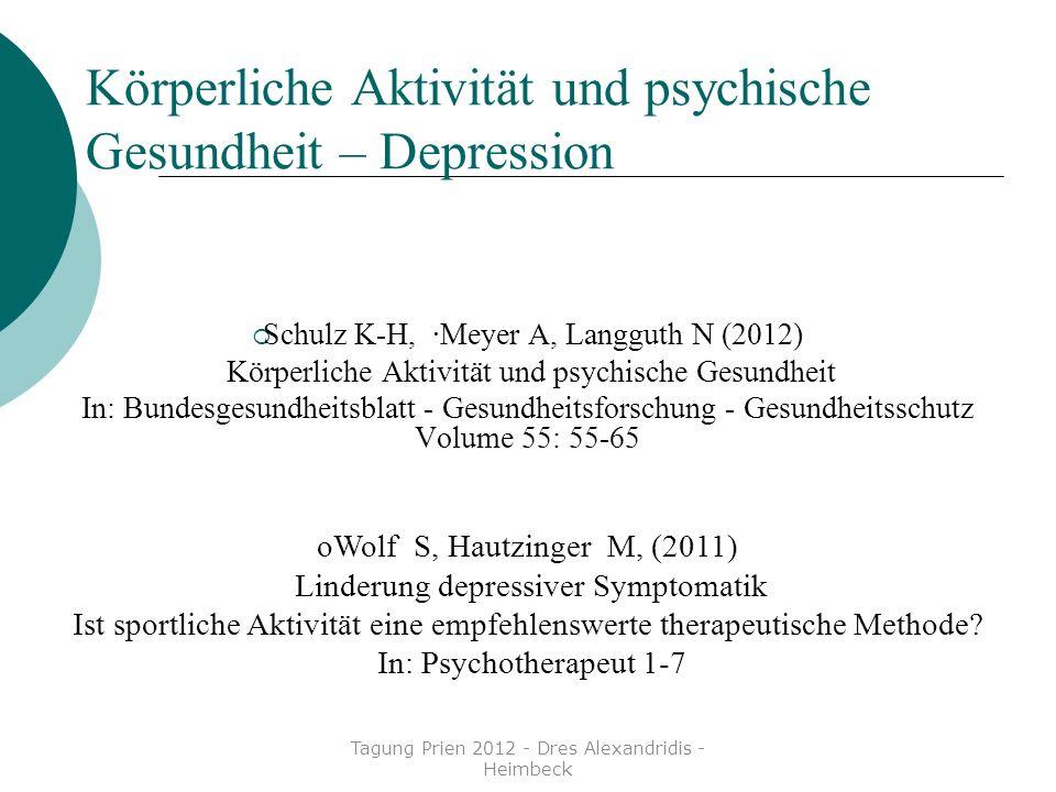Körperliche Aktivität und psychische Gesundheit – Depression