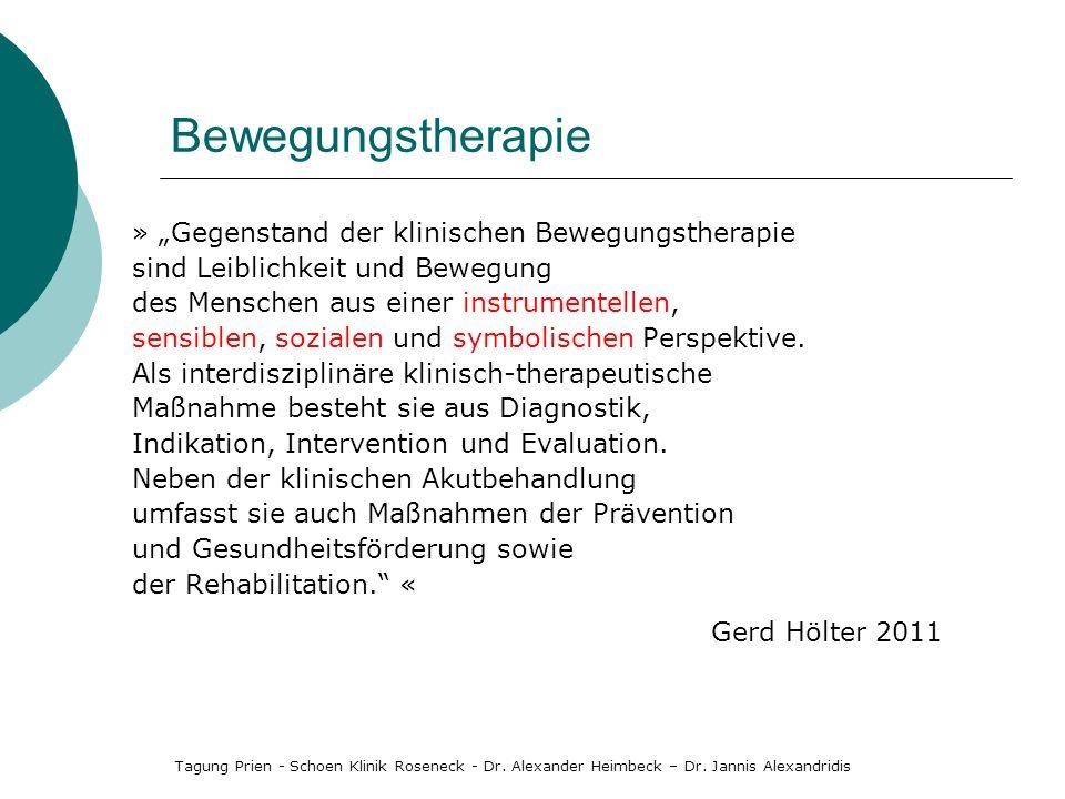 """Bewegungstherapie » """"Gegenstand der klinischen Bewegungstherapie"""