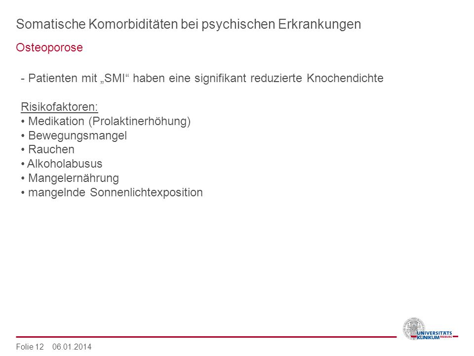 Somatische Komorbiditäten bei psychischen Erkrankungen