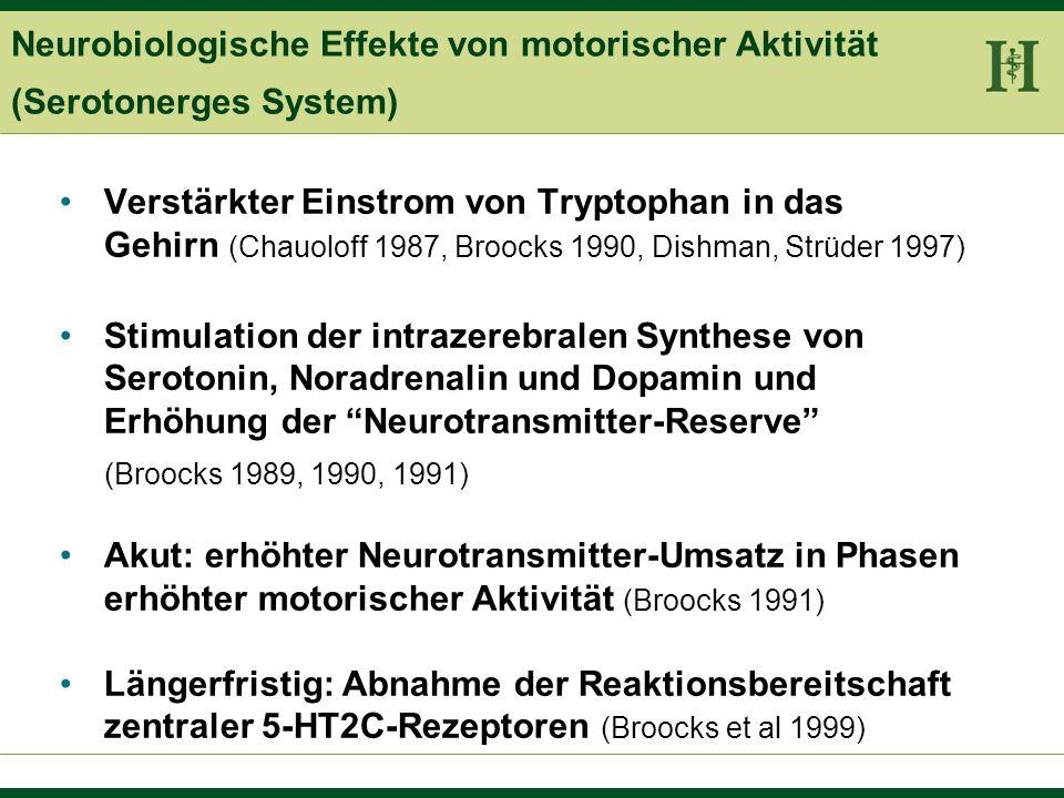 Neurobiologische Effekte von motorischer Aktivität (Serotonerges System)