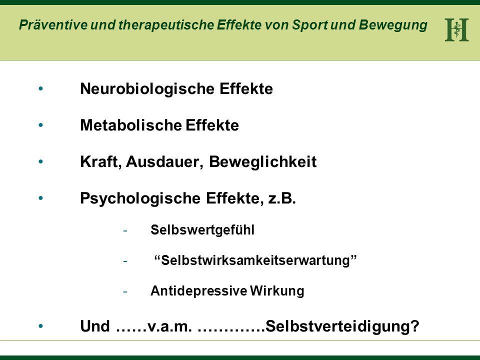 Präventive und therapeutische Effekte von Sport und Bewegung