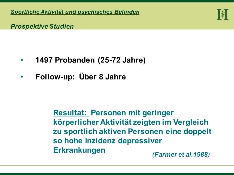1497 Probanden (25-72 Jahre) Follow-up: Über 8 Jahre