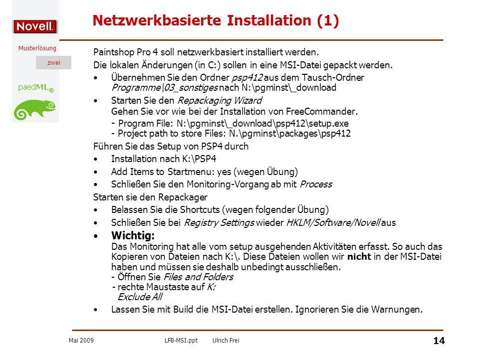 Netzwerkbasierte Installation (1)
