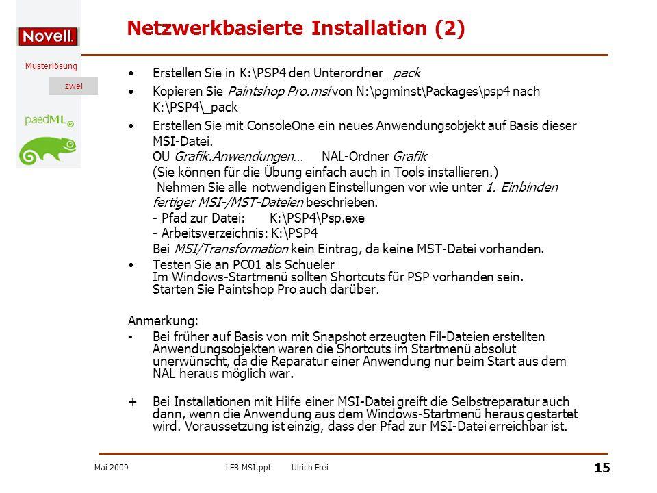 Netzwerkbasierte Installation (2)