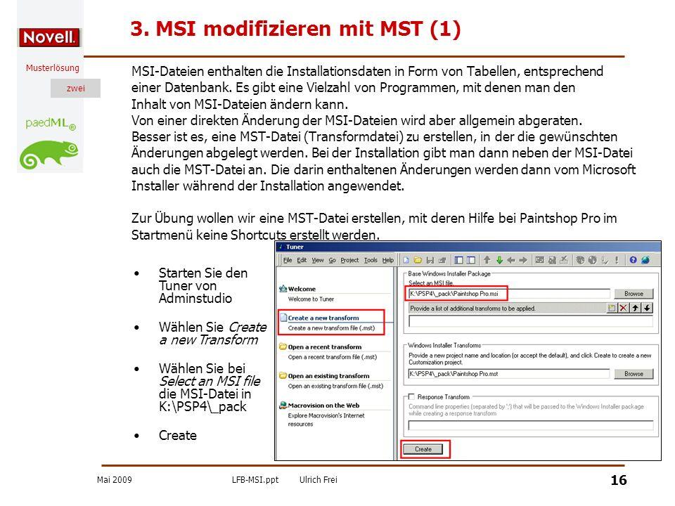 3. MSI modifizieren mit MST (1)