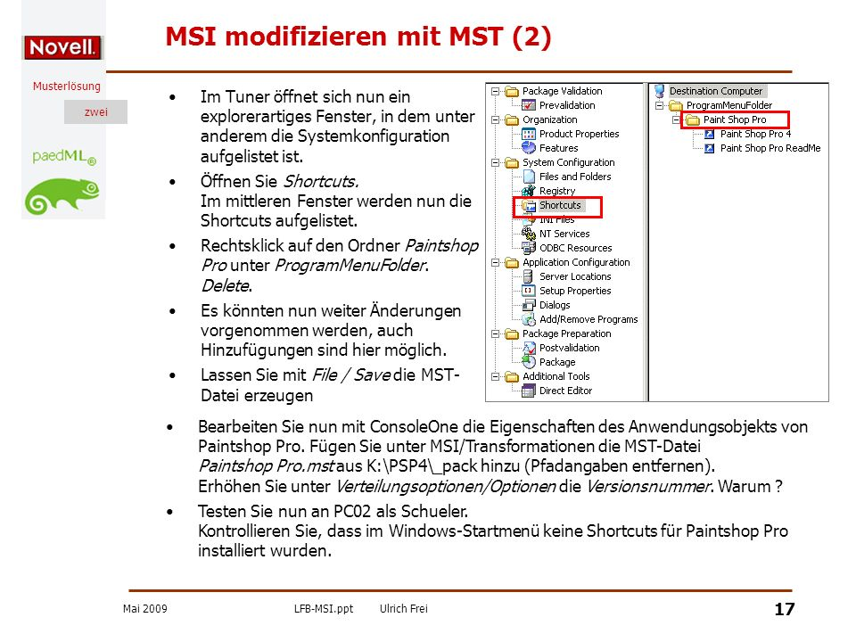 MSI modifizieren mit MST (2)