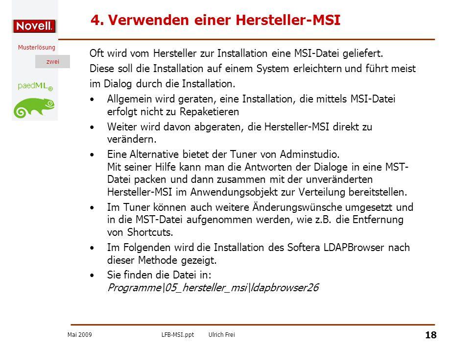 4. Verwenden einer Hersteller-MSI