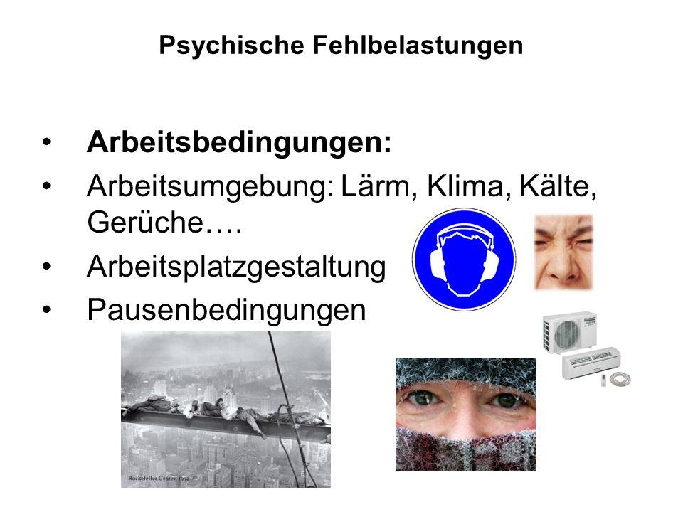 Psychische Fehlbelastungen