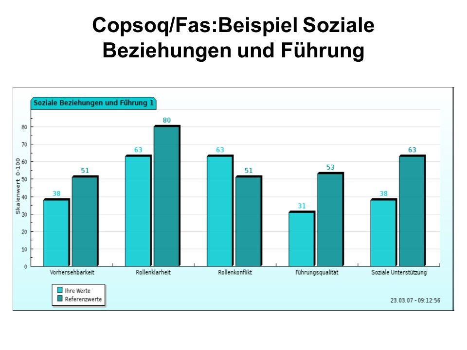 Copsoq/Fas:Beispiel Soziale Beziehungen und Führung