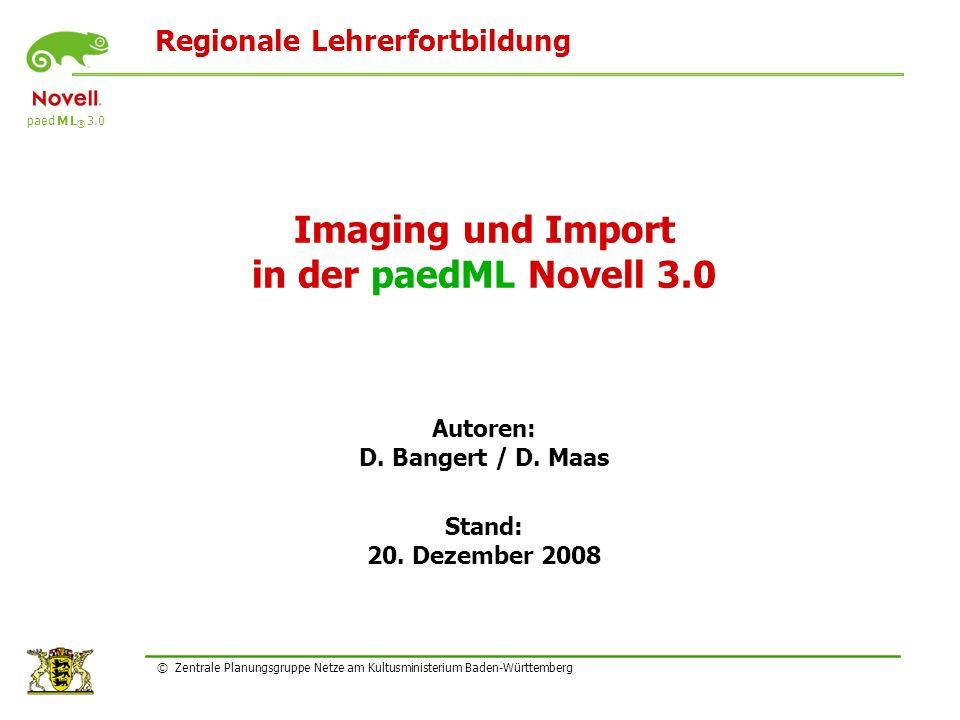 Imaging und Import in der paedML Novell 3.0