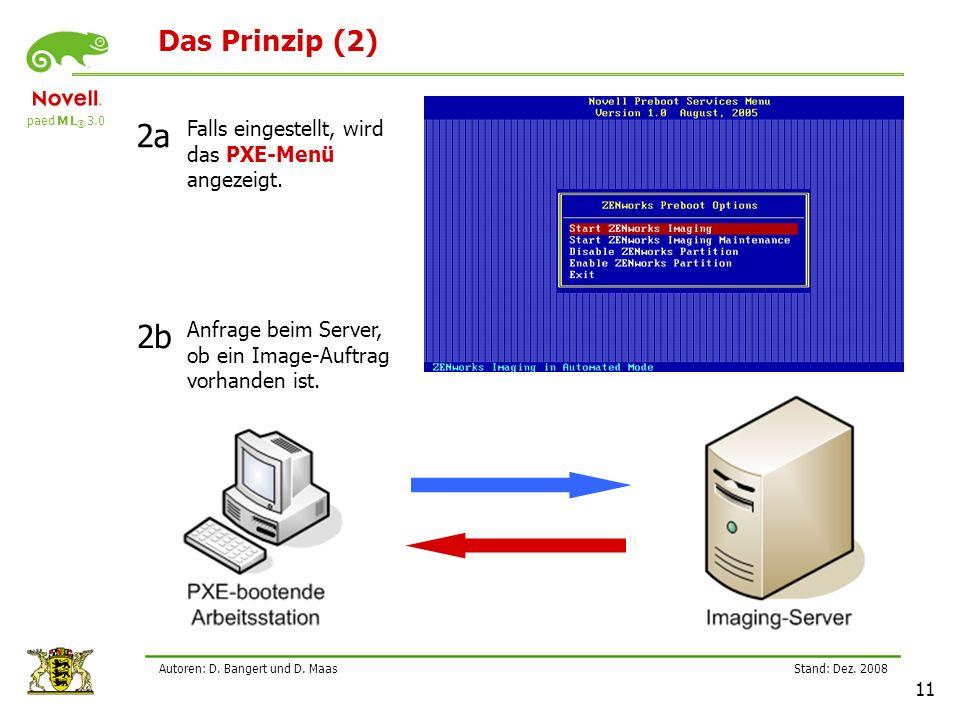 2a 2b Das Prinzip (2) Falls eingestellt, wird das PXE-Menü angezeigt.