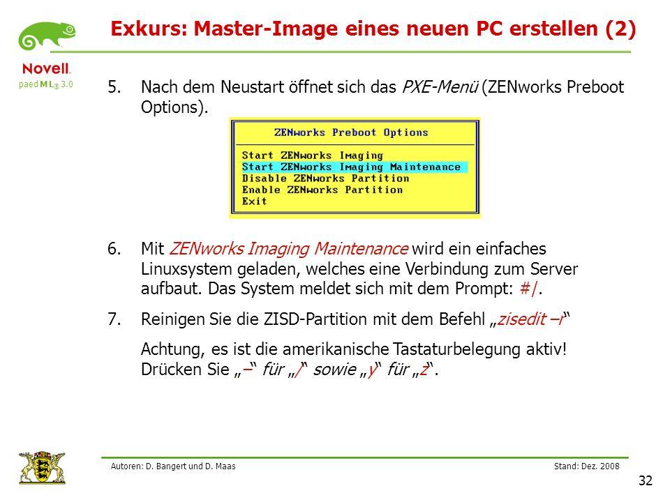 Exkurs: Master-Image eines neuen PC erstellen (2)
