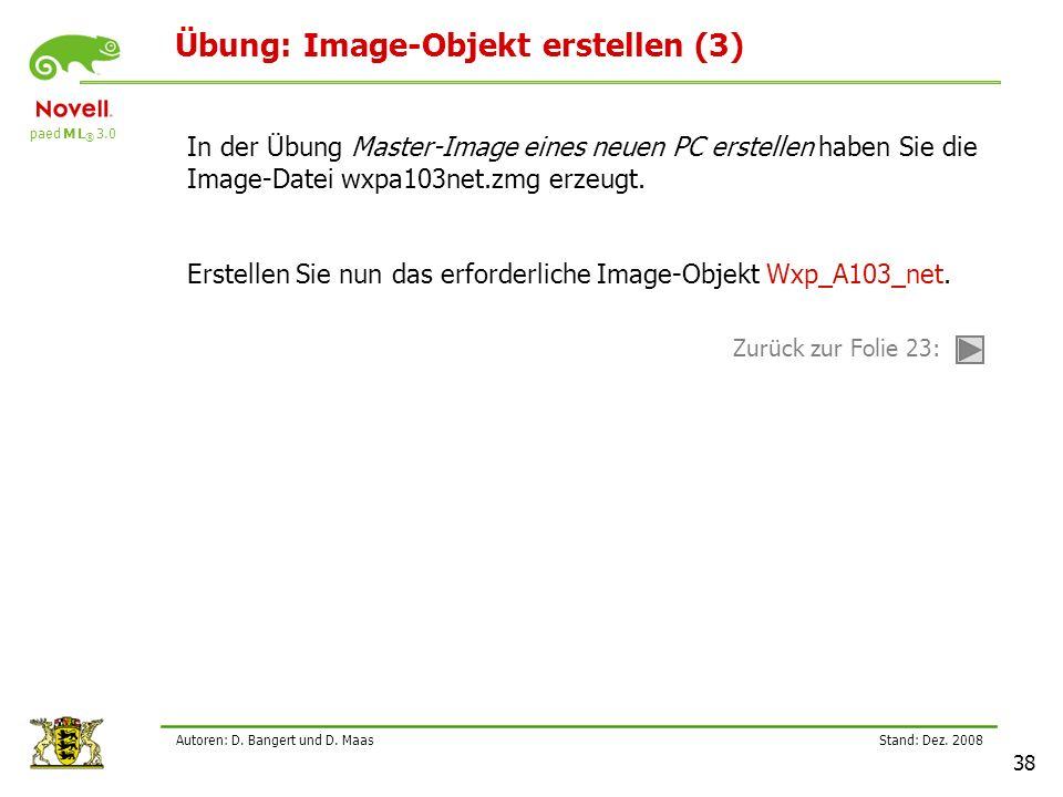 Übung: Image-Objekt erstellen (3)