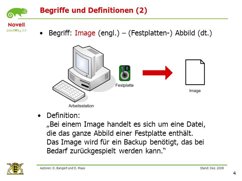 Begriffe und Definitionen (2)