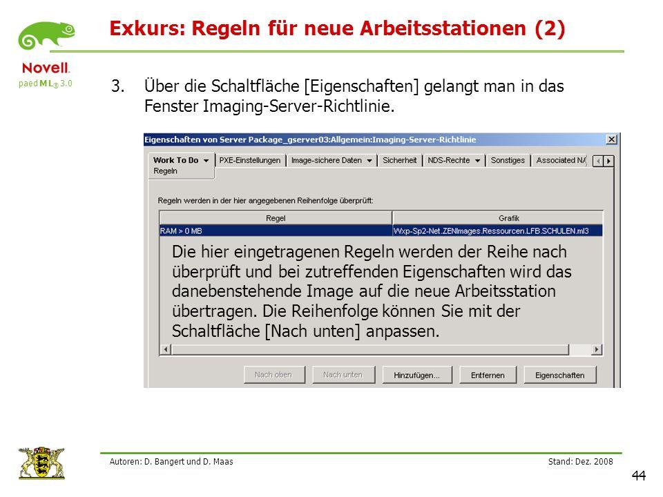 Exkurs: Regeln für neue Arbeitsstationen (2)