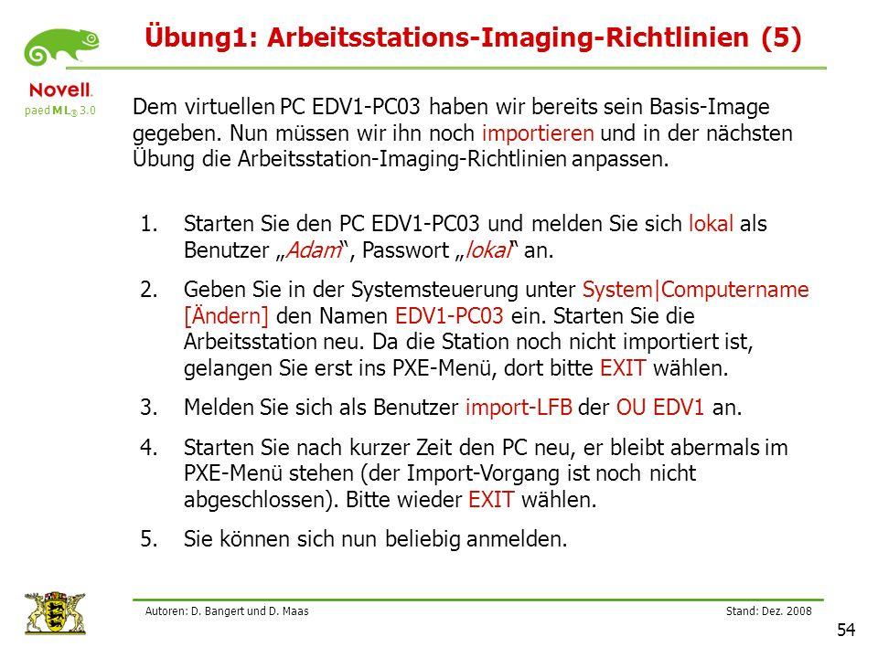 Übung1: Arbeitsstations-Imaging-Richtlinien (5)