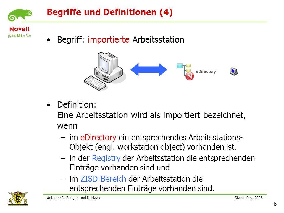 Begriffe und Definitionen (4)