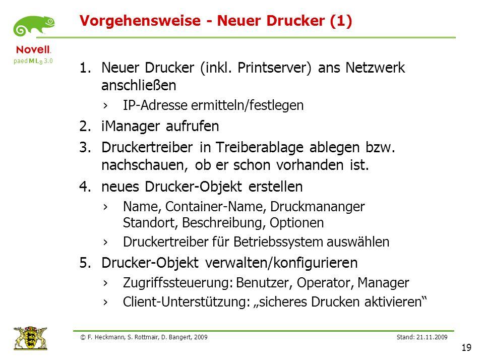 Vorgehensweise - Neuer Drucker (1)