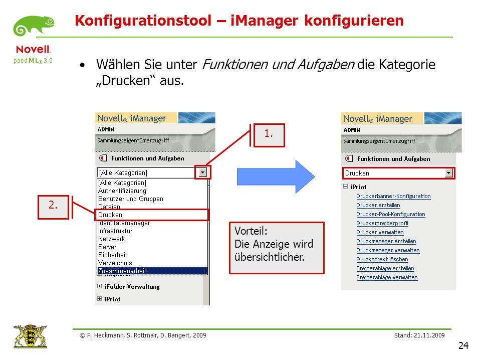 Konfigurationstool – iManager konfigurieren