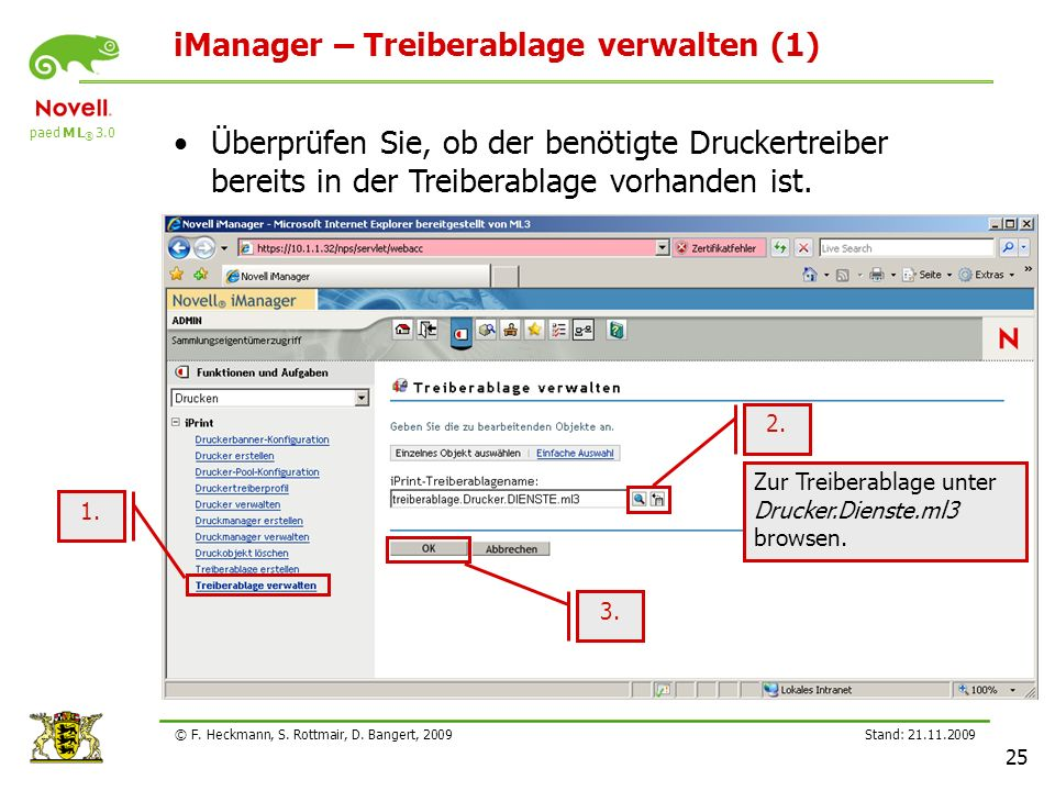 iManager – Treiberablage verwalten (1)