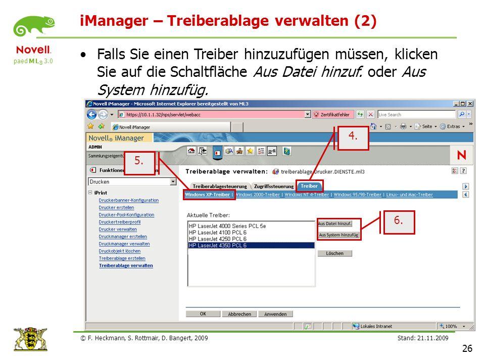 iManager – Treiberablage verwalten (2)