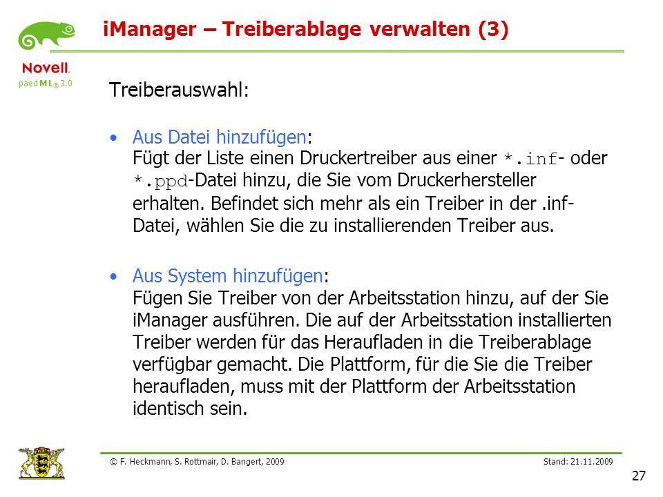 iManager – Treiberablage verwalten (3)