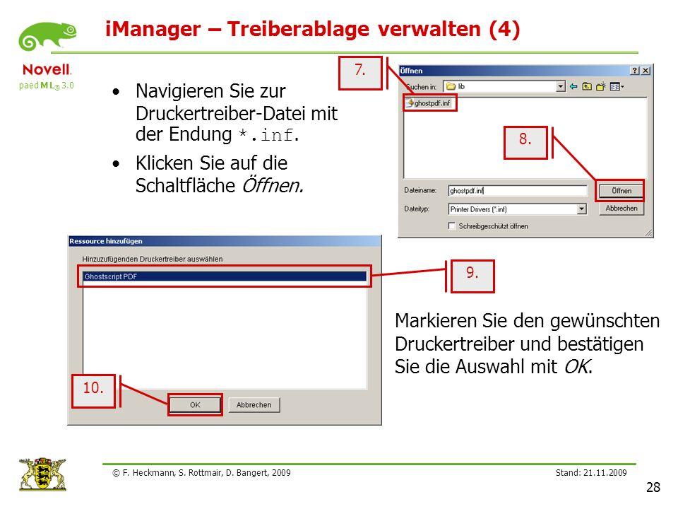 iManager – Treiberablage verwalten (4)