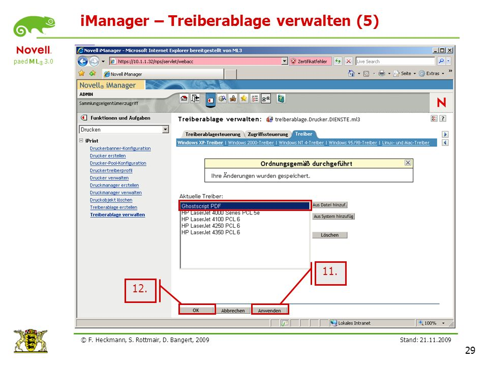 iManager – Treiberablage verwalten (5)