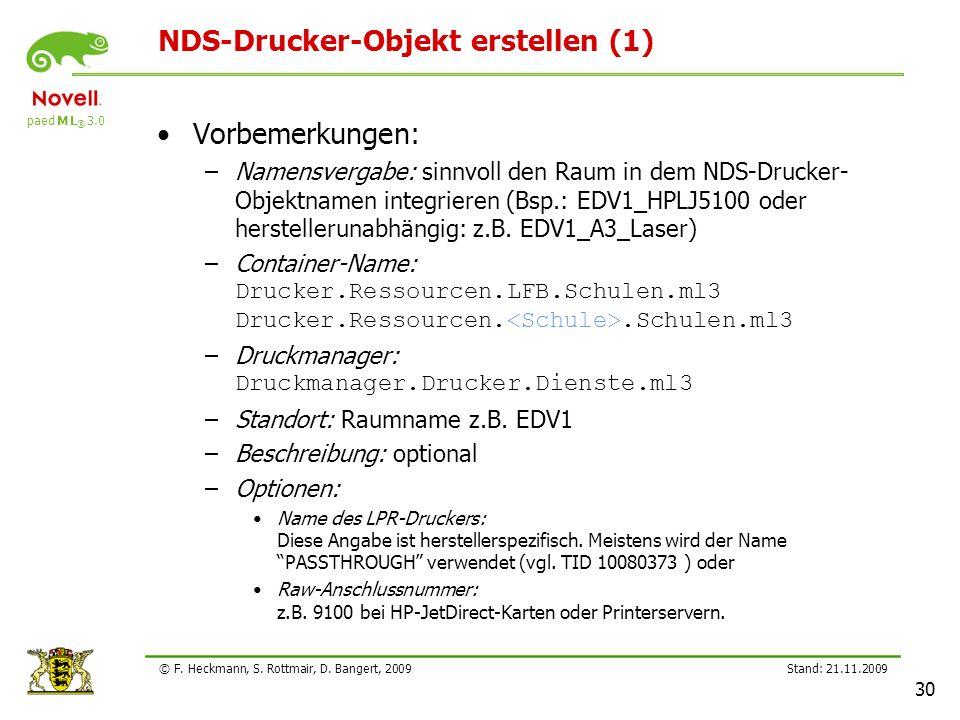 NDS-Drucker-Objekt erstellen (1)
