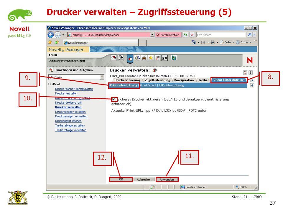 Drucker verwalten – Zugriffssteuerung (5)