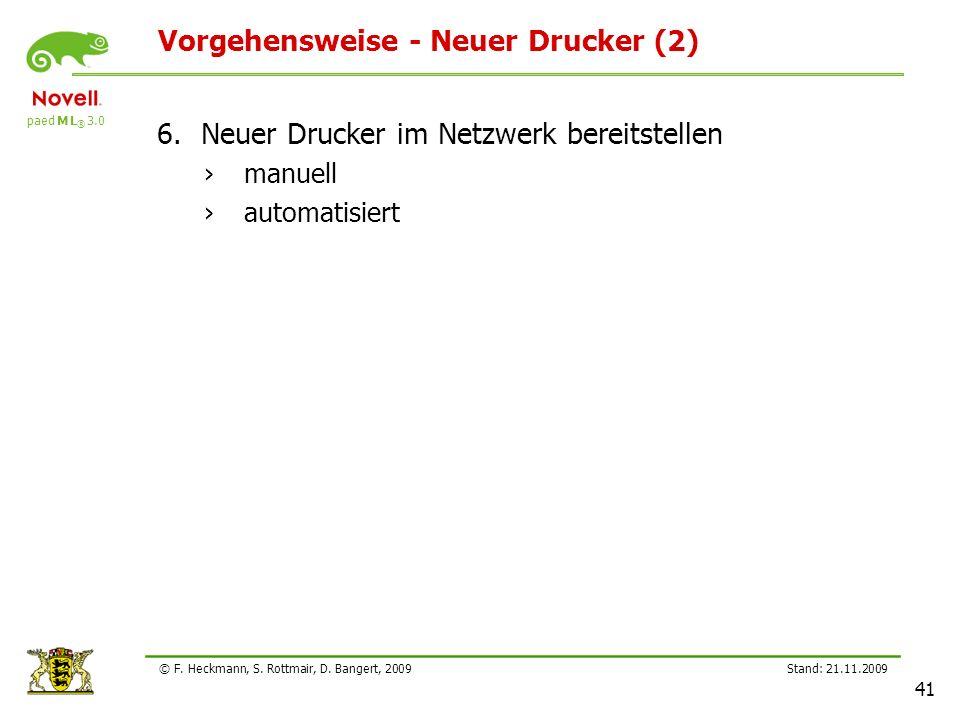 Vorgehensweise - Neuer Drucker (2)