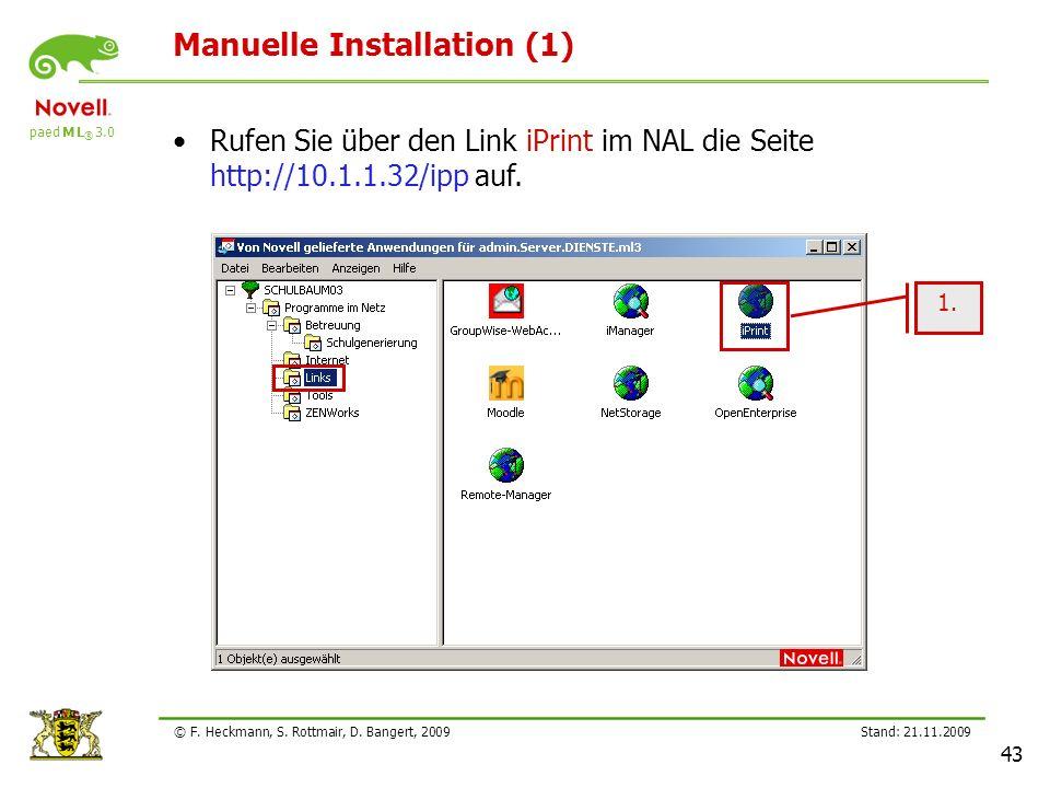 Manuelle Installation (1)