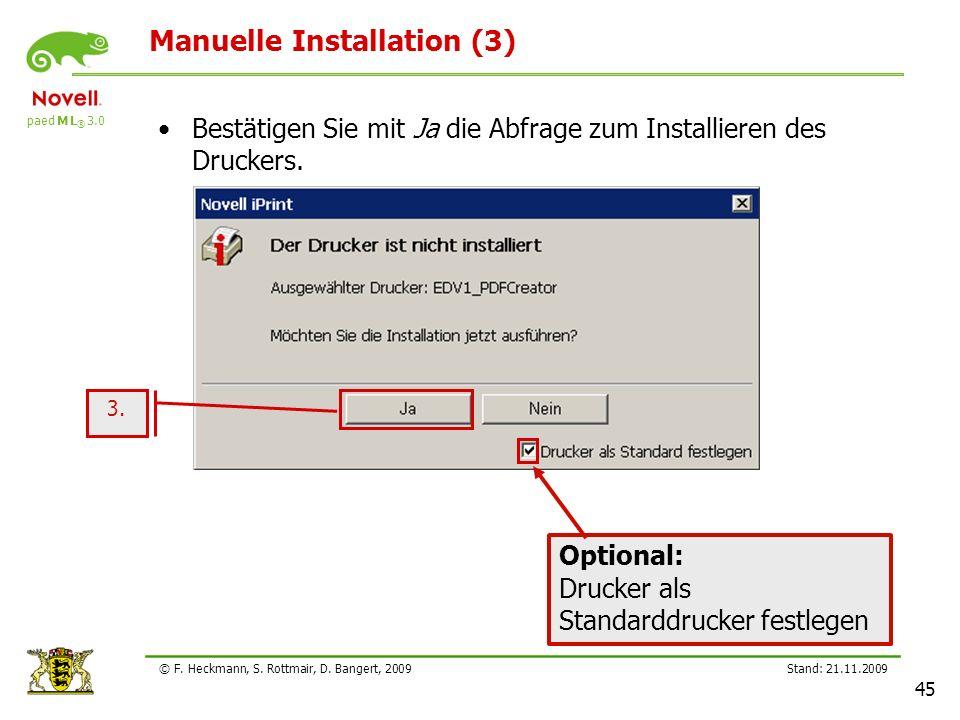 Manuelle Installation (3)