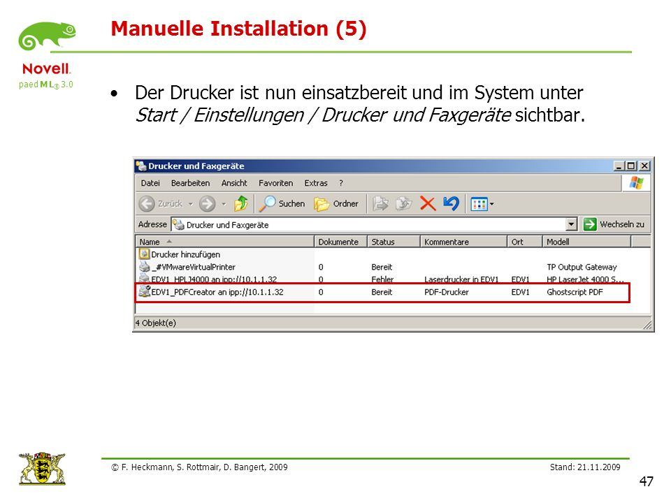 Manuelle Installation (5)