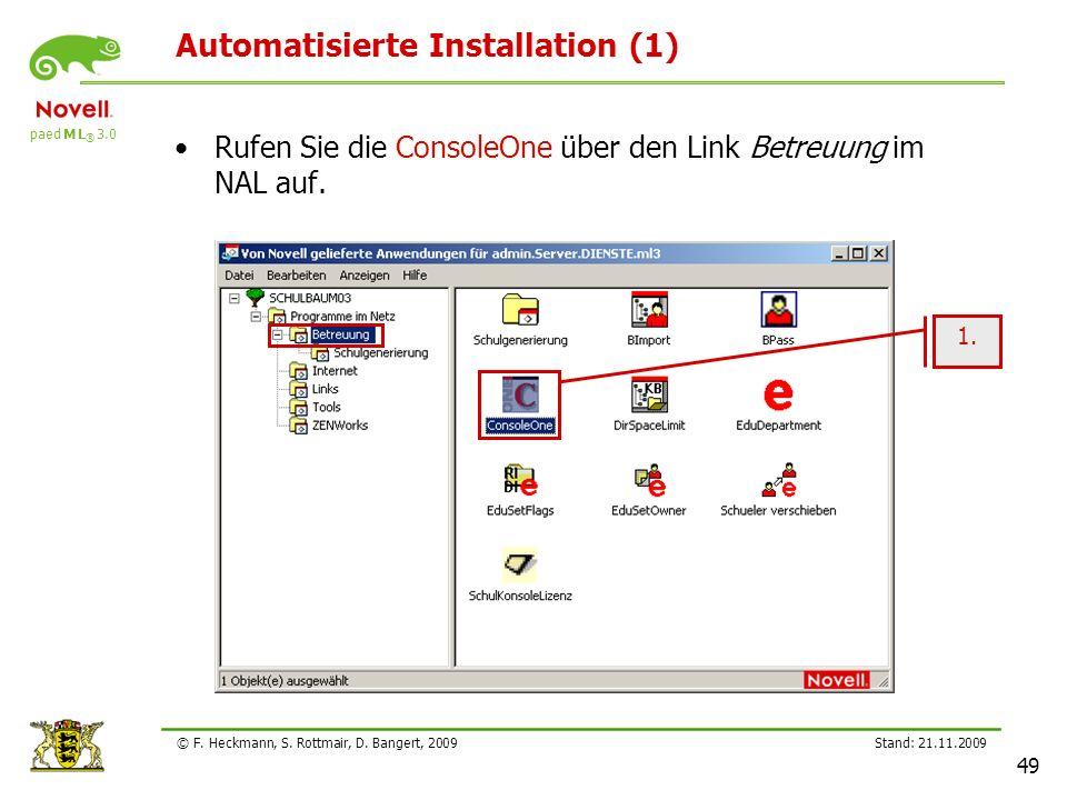 Automatisierte Installation (1)