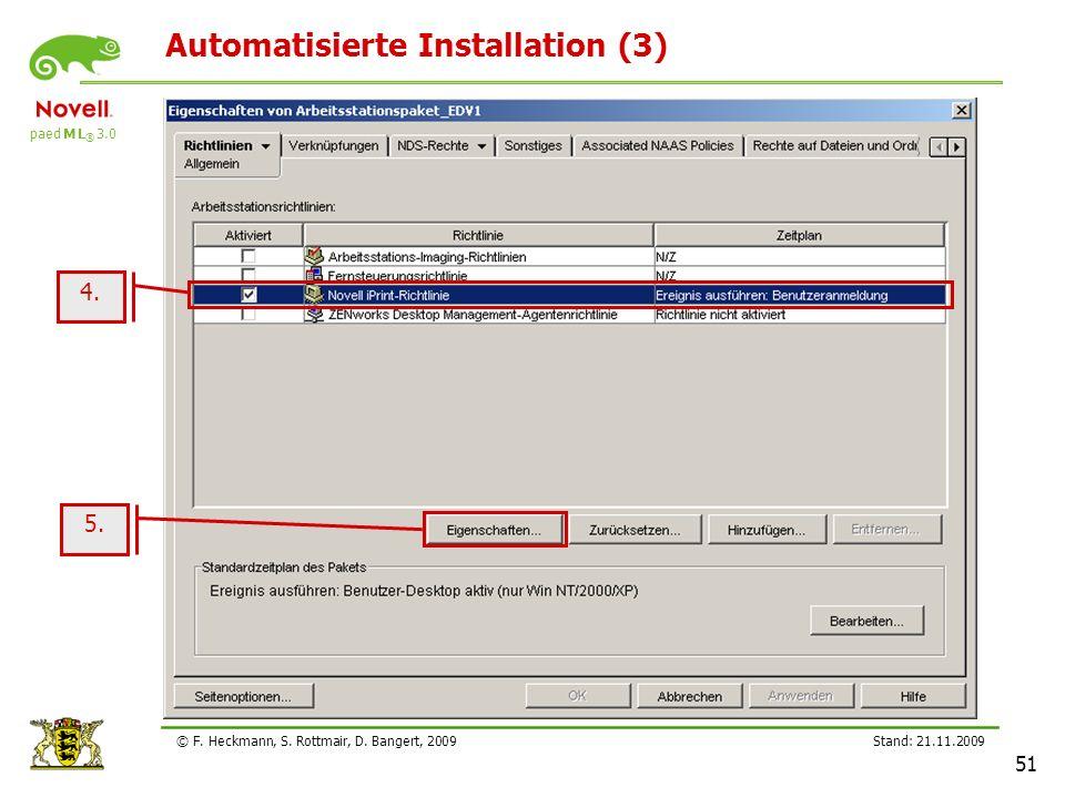 Automatisierte Installation (3)