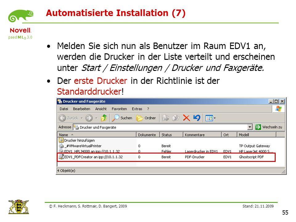 Automatisierte Installation (7)