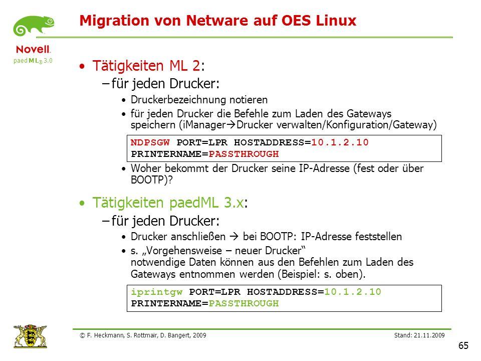 Migration von Netware auf OES Linux