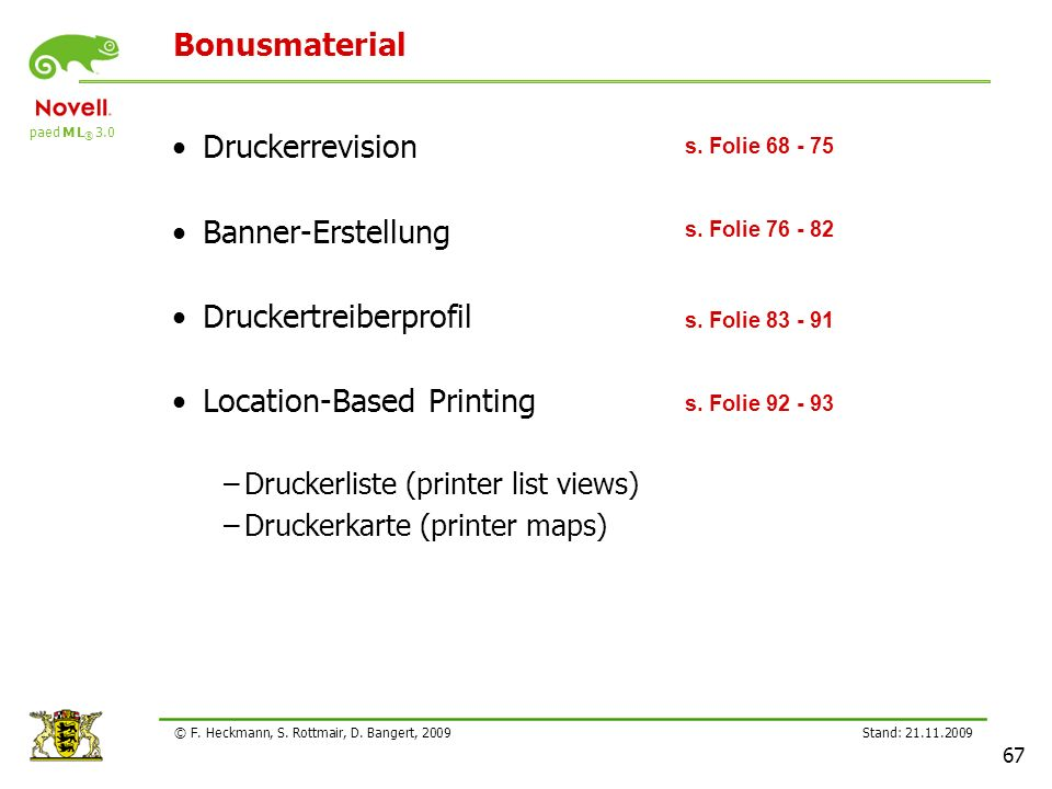 Druckertreiberprofil Location-Based Printing