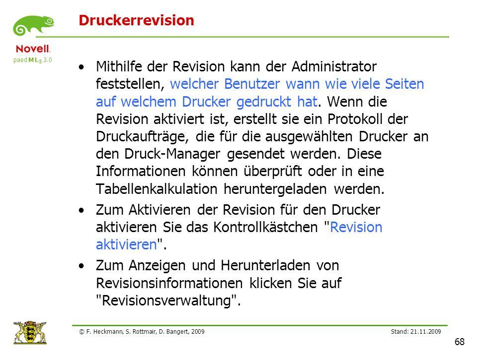 Lehrerfortbildung 21.11.2209. Druckerrevision.