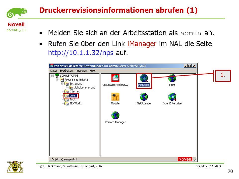 Druckerrevisionsinformationen abrufen (1)