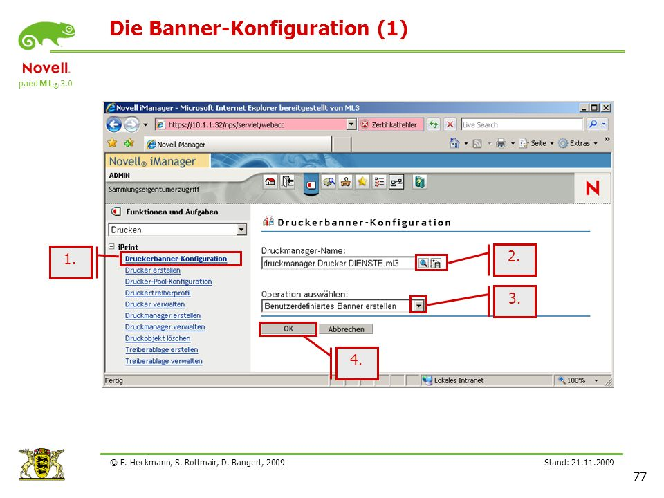 Die Banner-Konfiguration (1)