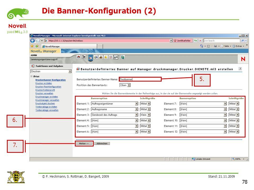 Die Banner-Konfiguration (2)