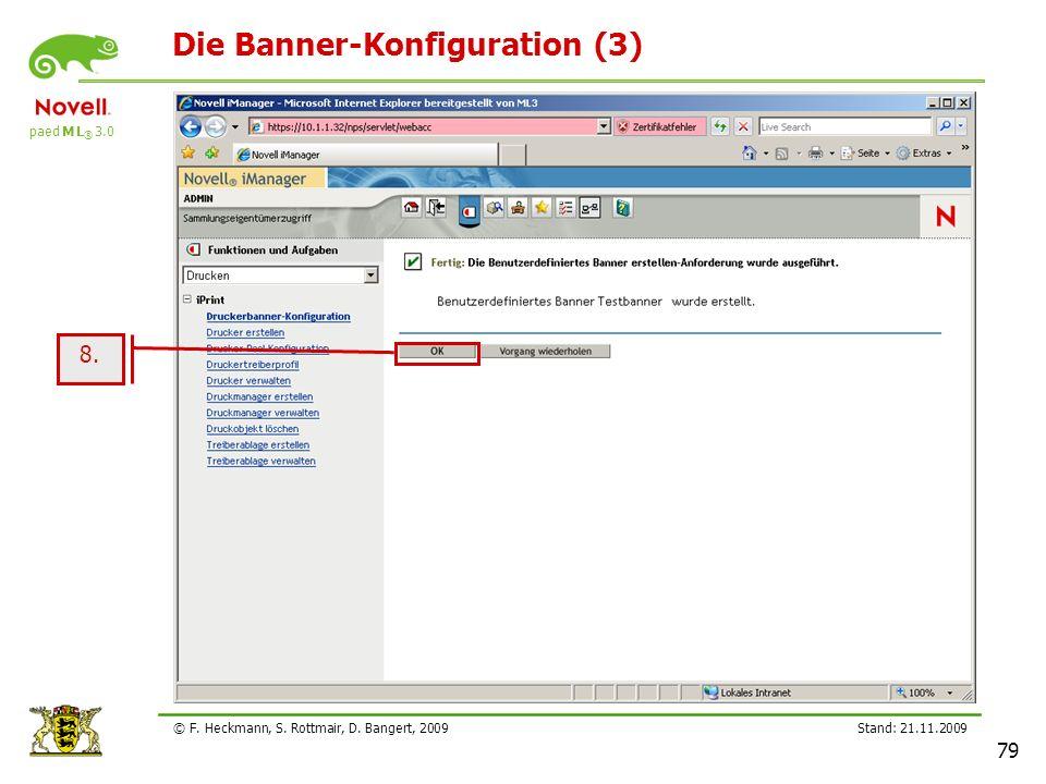 Die Banner-Konfiguration (3)