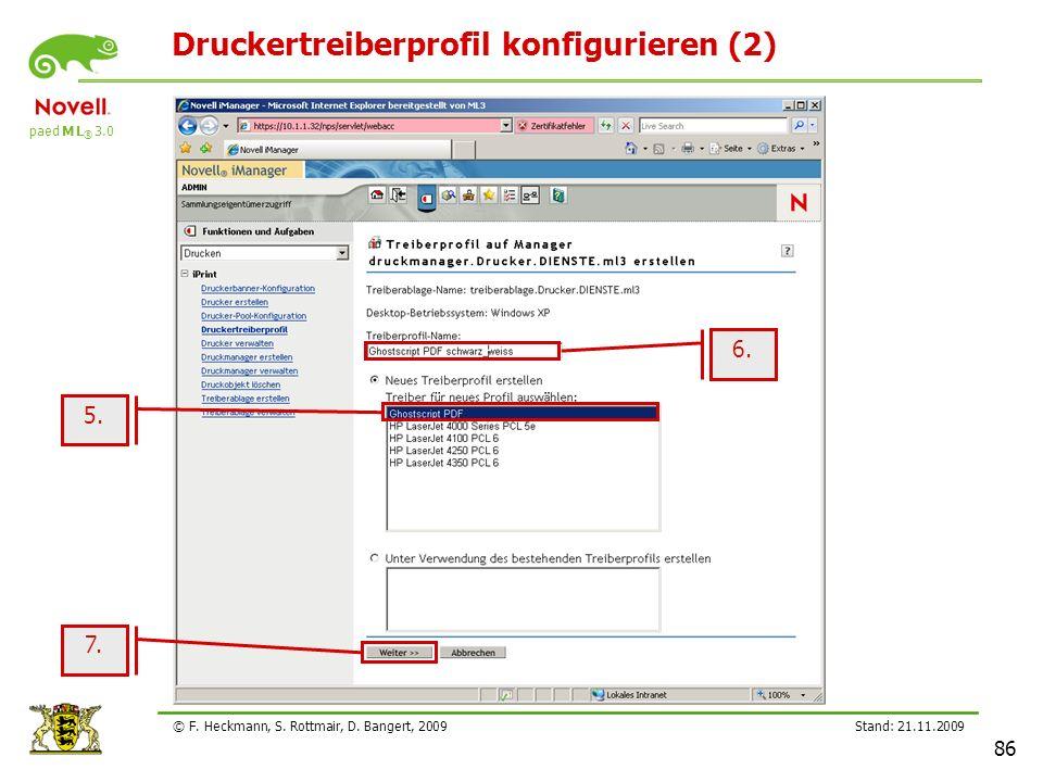Druckertreiberprofil konfigurieren (2)